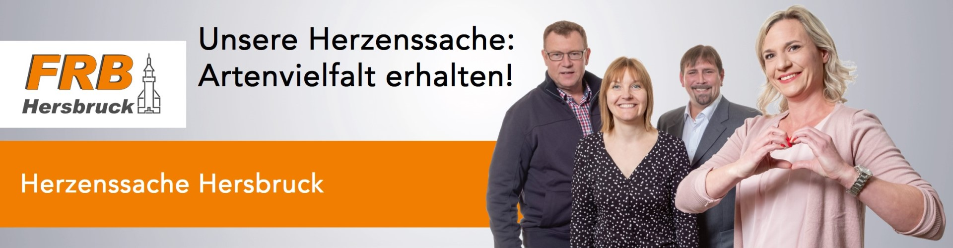 "Banner Herzenssache ""Artenvielfalt erhalten!"""