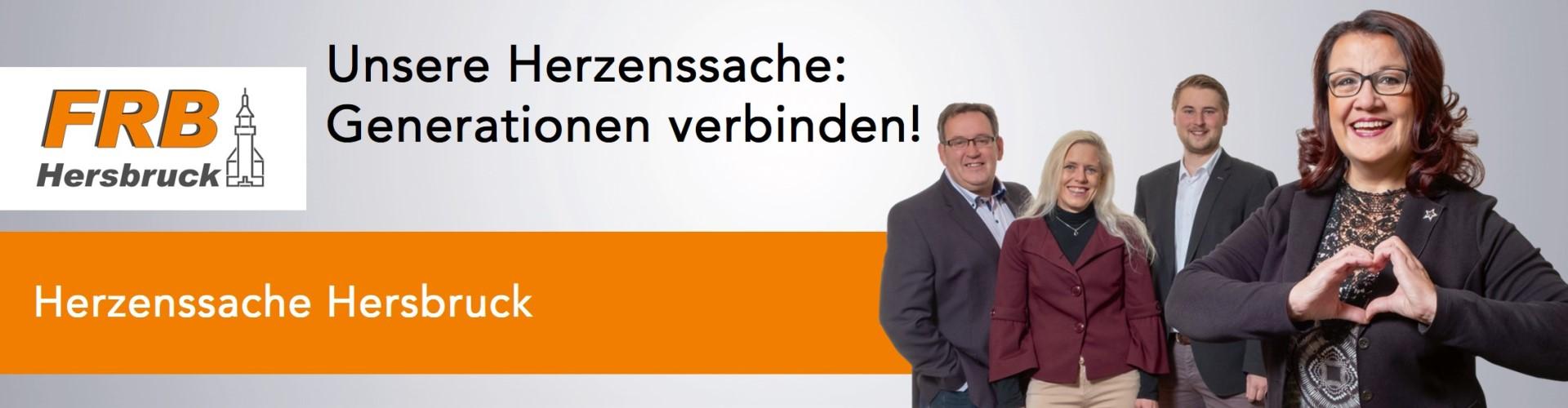 "Banner Herzenssache ""Generationen verbinden!"""