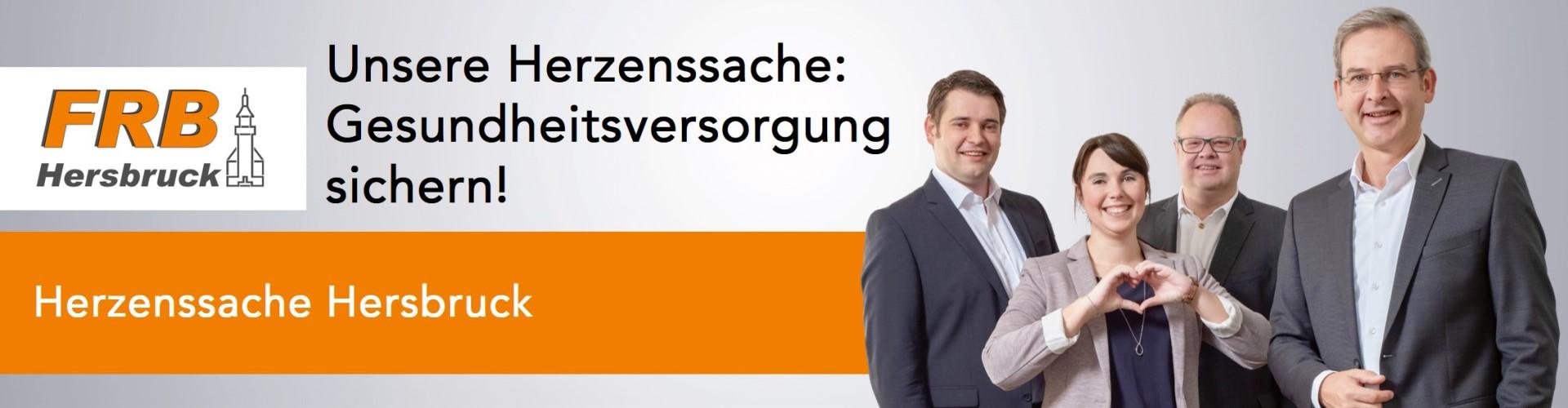 """Banner Herzenssache """"Gesundheitsversorgung sichern!"""""""