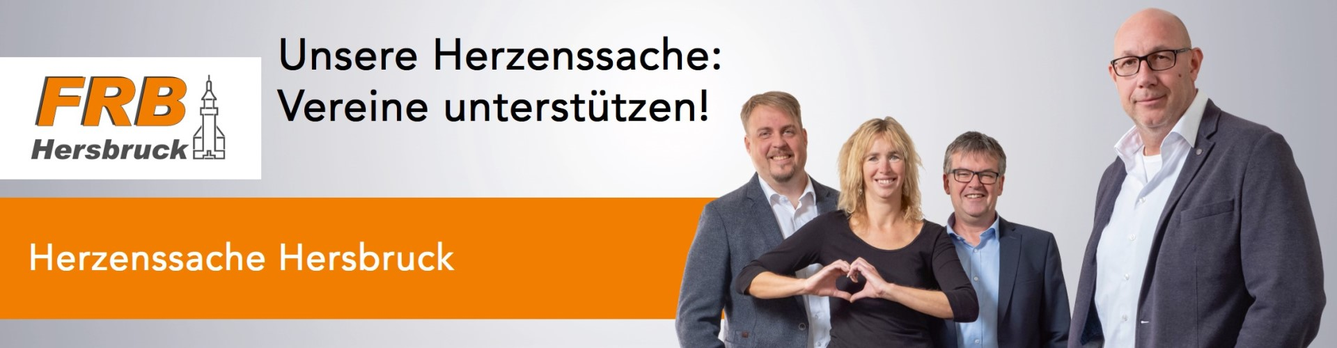 """Banner Herzenssache """"Vereine unterstützen!"""""""